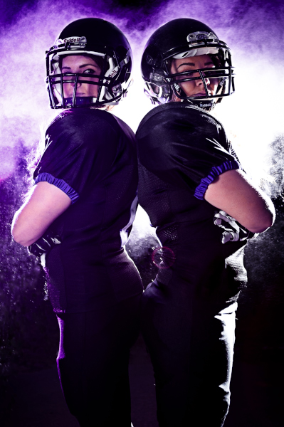 womens american football portrait